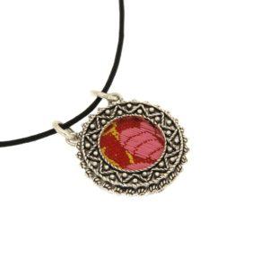 cna189c-cr-sbieco-ciondolo-filigrana-argento-tessuto-broccato-rosso